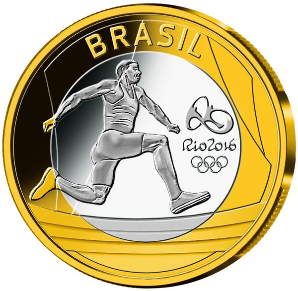 Olympic Games, Rio 2016, Series 1, Basemetal, 2014