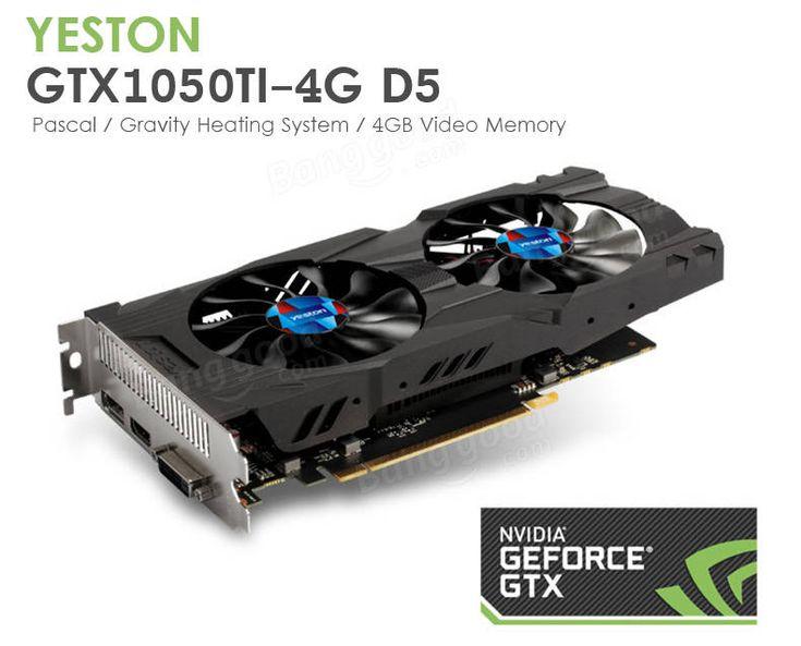 Yeston GTX1050Ti-4G-D5 1291-1392MHz/7008MHz 4GB 128Bit GDDR5 Video Graphics Card Sale - Banggood.com  computer laptop notebook technology