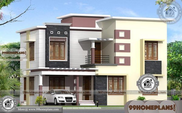 40 X 80 House Plans With Double Story City Style Modern Plan Pictures Bungalow House Design House Plans Modern House Plans