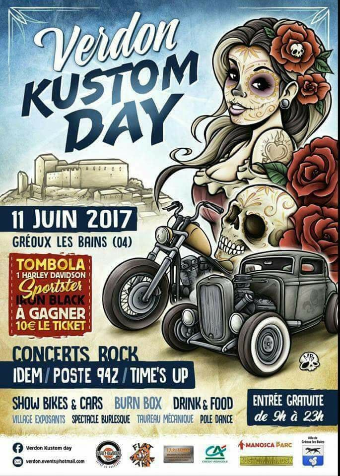 VERDON KUSTOM DAY 04 GREOUX LES BAINS, SHOW BIKES, SHOW CARS, , concentration moto, CAFE RACER, HARLEY DAVIDSON, INDIAN, VICTORY, BIKE