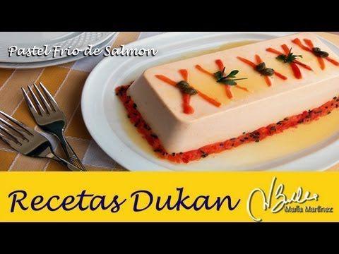 Pastel frío de salmón, sin horno (Crucero) | Recetas Dukan Maria Martinez