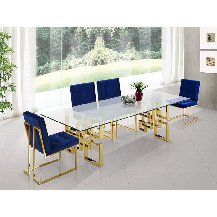 Robey Dining Table Chrome Dining Table Dining Table Gold