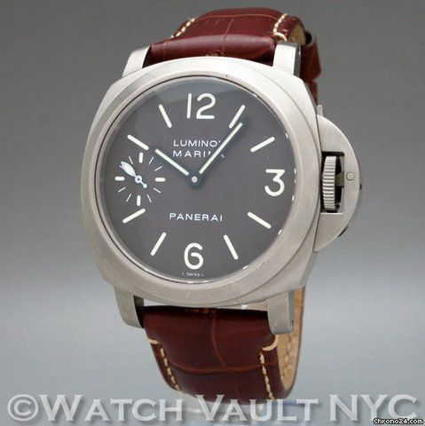 Panerai Luminor Marina ad: $4,499 Panerai Luminor Marina Titanium Luminor Marina Titanium Ref. No. PAM 061; Titanium; Condition 2 (fine); Year 2001; With box; Location: United States, N