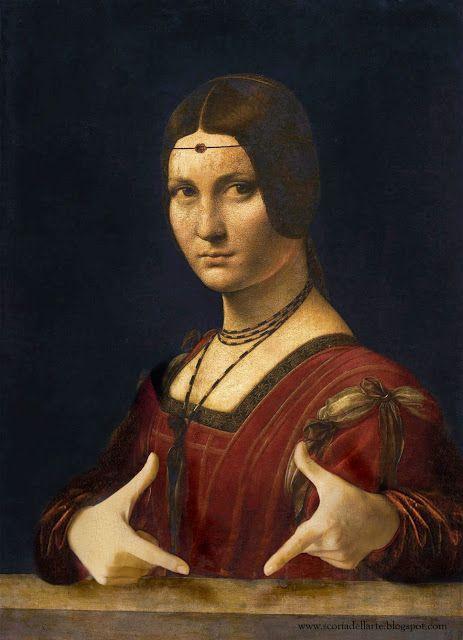 Scoria dell'Arte: Ritratto di dama in posa italica - Leonardo da Vin...