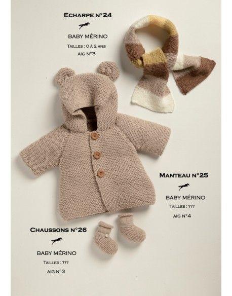 Modèle Manteau CB19-25 - Patron tricot gratuit