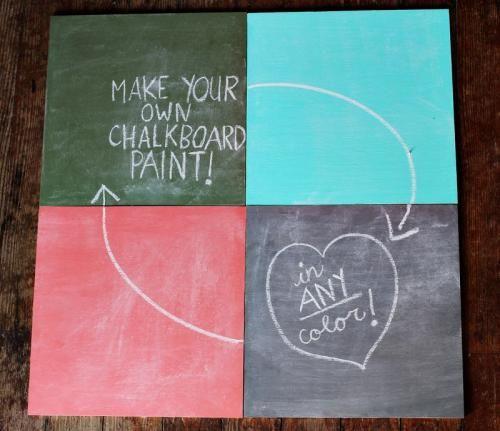 Как своими руками сделать краску с эффектом грифельной доски / Мастер-класс