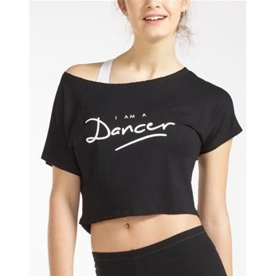 AGILE DANCER DANCE SHORT T-SHIRT It is the dancers' T-shirt. TheAGILET-shirt with its Dance logo is easily worn over your leotard or tank top