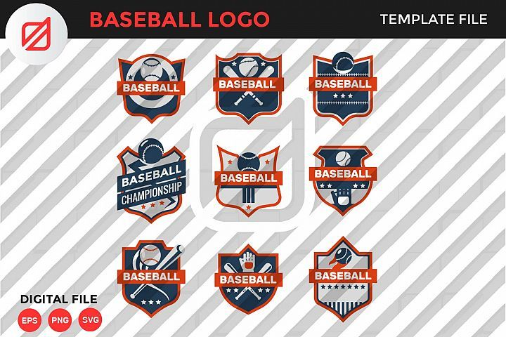Baseball Logo Template 345285 Logos Design Bundles Logo Templates Logos Templates
