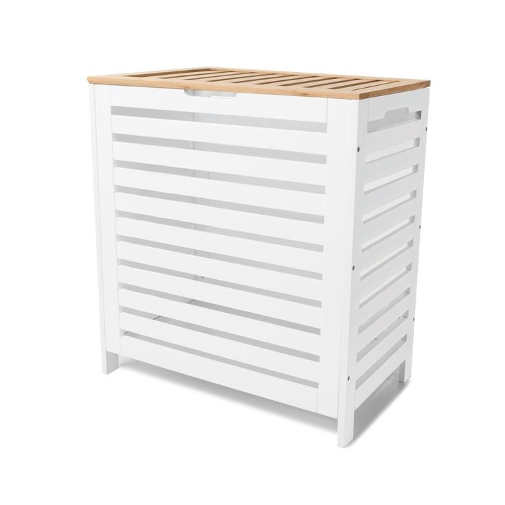 Storage Box - White with Bamboo Lid