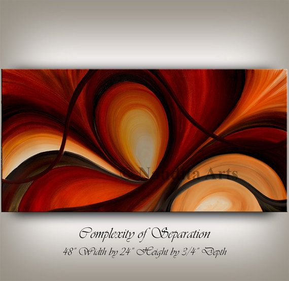 Original Abstract Large MODERN ART by ContemporaryArtDaily on Etsy, $650.00