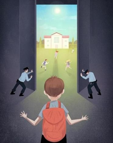 Marco_Melgrati_.jpg conceptual illustration for  editorial in Boston Globe on more flexible pre-trial system for youthful offenders.