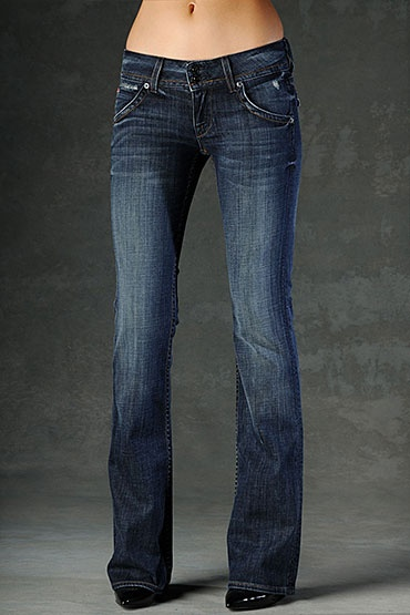 classic bootcut blue jeans