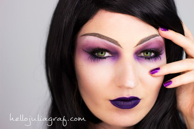 """I had so much fun creating this Evil Sorceress look for my Halloween video series. I've had many requests to do a purple witch look (I did a green sexy witch look years ago which you can see here) and I wanted to turn this one into a sorceress. What's the difference, you say"""" Well, I always thought Sorceresses were more high class than witches, but what do I know"""" LOL!!Watch my video tutorial below to see how to recreate this look, and how it looks with my full costume. I have a 20% of"""