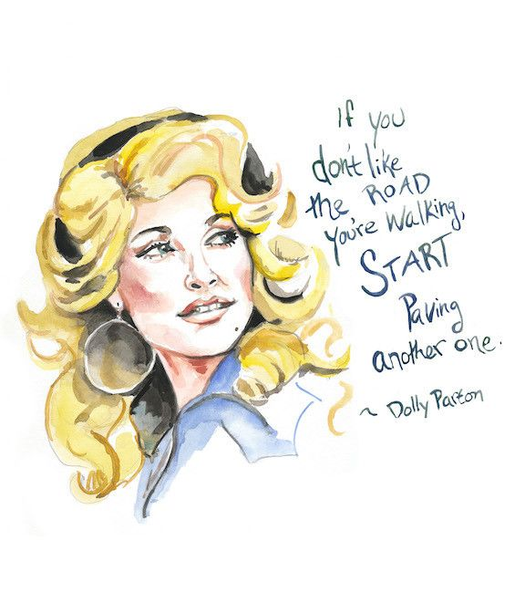 Dolly Parton, the queen of country, with her charm, sense of humor and inspiring words, is now a portrait and ready to adorn your home or give to a friend. Painted by yours truly and reproduced on hig