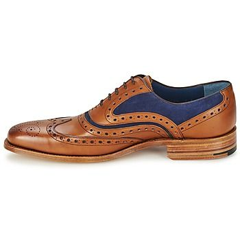 ¡Elegancia y refinamiento se dan cita en este richelieu firmado por Barker! Forro cuero, plantilla cuero y suela en cuero, decididamente este zapato es un aliado de perfección, calidad y sentido de la estética. ¡Lo queremos! - Color : Marrón / Azul - Zapatos Hombre 260,00 €