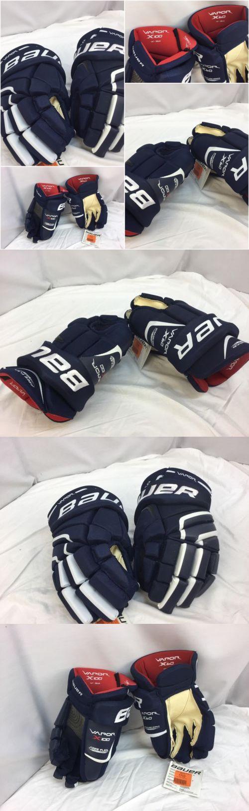 Gloves 20853: Bauer X100 X60 Hockey Gloves Navy Blue 14 15 Mismatch Nwt Ygi Gl1 -> BUY IT NOW ONLY: $30 on eBay!