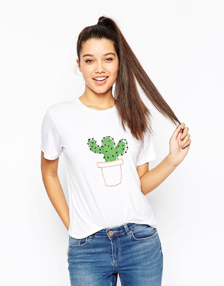 ASOS Embroidered Cactus T-Shirt