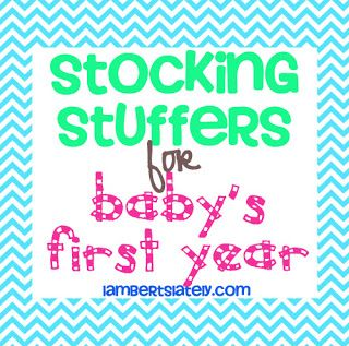 List of 30 stocking stuffers for baby's first Christmas! -- Gonna need this this year, G and J won't understand if Santa doesn't bring baby M something in his stocking!