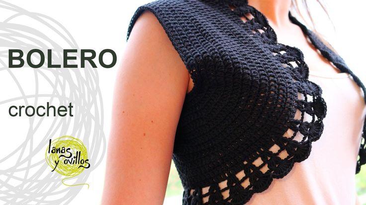Tutorial Bolero Crochet o Ganchillo en Español