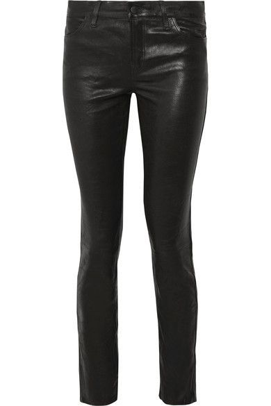 J Brand | Maude leather skinny pants | NET-A-PORTER.COM