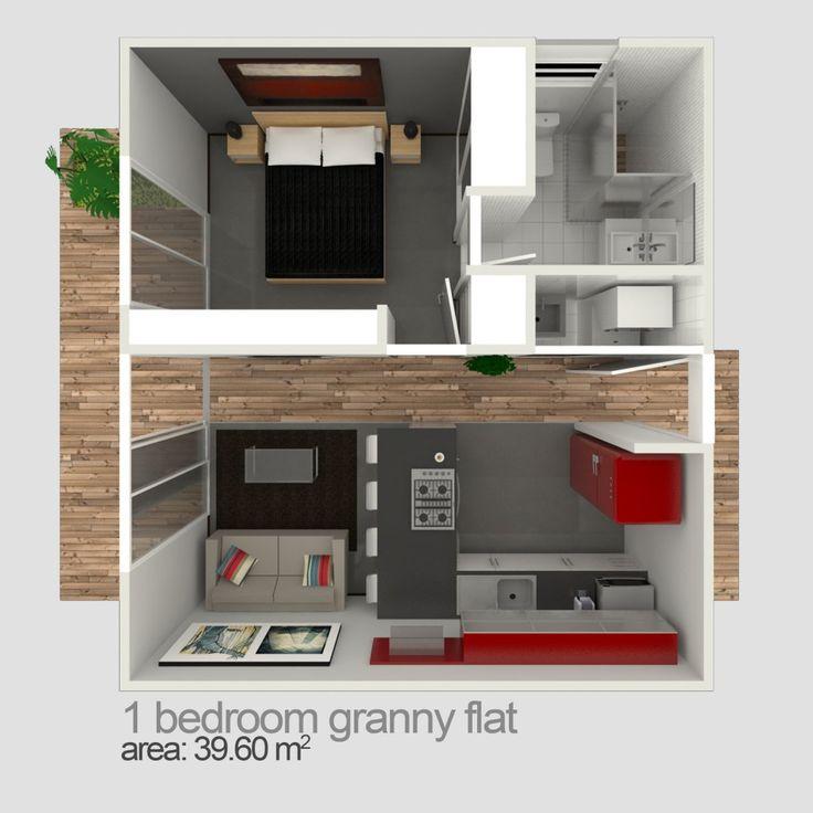 One bedroom granny flat designs blue gum granny flats for One bedroom flat design