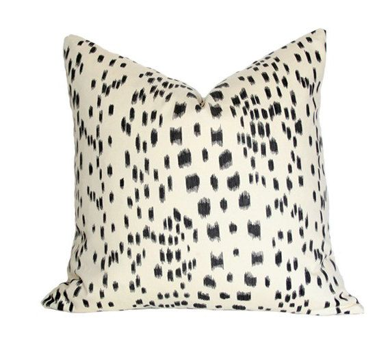 Les Touches Black Designer Pillow Cover - single-sided