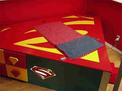 Creative Superman bed for kids bedroom