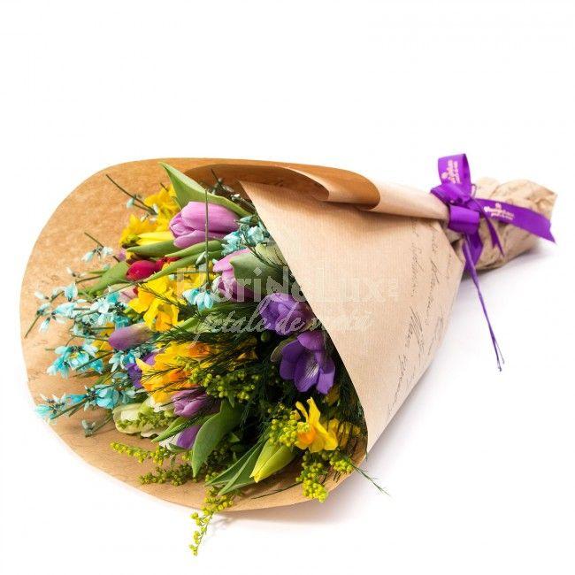 Buchet extra colorat de primavara! Cadou special pentru aceasta perioada, cadou colorat si vesel pentru orice ocazie!
