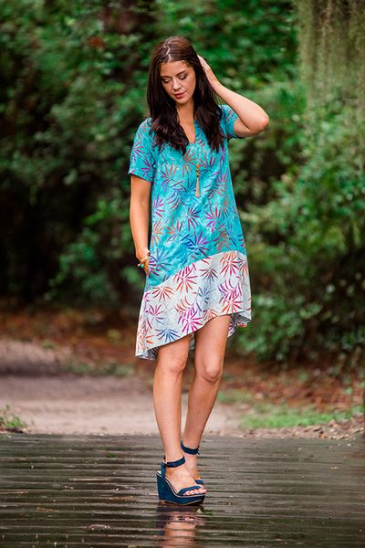 Let's Get Away Batik Dress