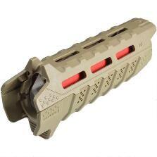 Strike Industries AR-15 Viper Handguard Carbine Length M-LOK Compatible 2 Piece Drop-In Polymer FDE/RED