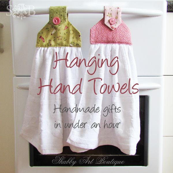Shabby Art Boutique: Handmade gifts ~ hanging hand towels My Grandma had these and I never realized how handy they were until I was an adult and needed a towel all the time!