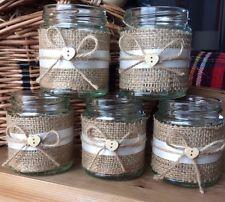 10X Shabby Chic Vintage Wedding Centerpice Tea Light Holder/ Vase Jam Jars                                                                                                                                                                                 More
