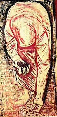 """""""Λιομαζώχτρα"""" ,λαδοτέμπερα,1972 ,Βάλιας Σεμερτζίδης Valias Semertzidis (1911-1983)"""