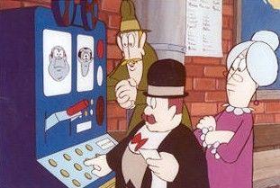 Agaton Sax, faster Matilda och inspektör Lispington.