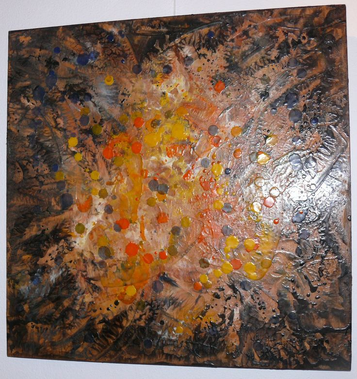 Dana Haidau - Polen, encaustic painting, 45x45cm