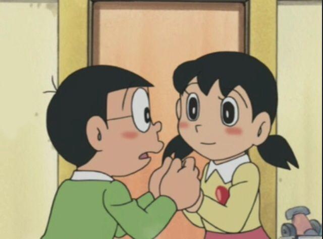 Shizuka and Nobita