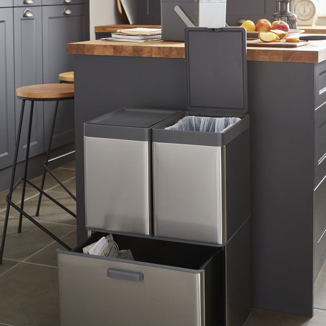 Kosz Do Segregacji Goodhome Kora Szuflada L 28 L Kosze Na Smieci In 2021 Kitchen Bin Goodhome Utility Room Storage