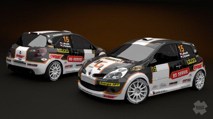 Minařík Racing (Renault Clio R3) - design and wrap for season 2013.