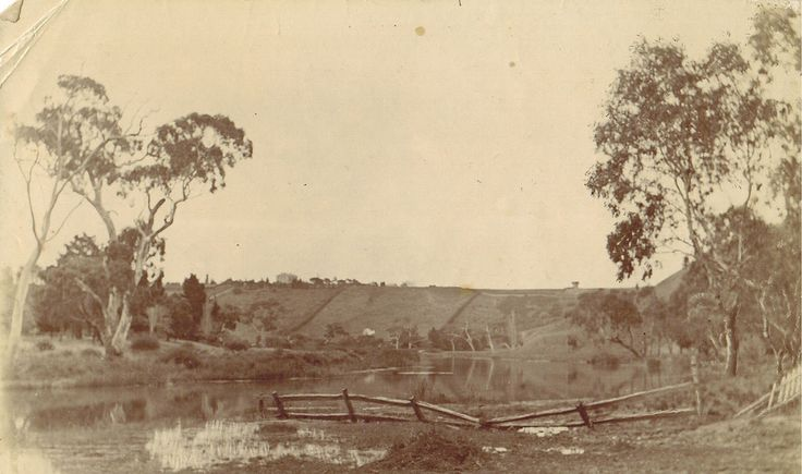 Possibly Barwon River near Geelong, Vic.  One of a group of six photographs that ended up in Newcastle, NSW.