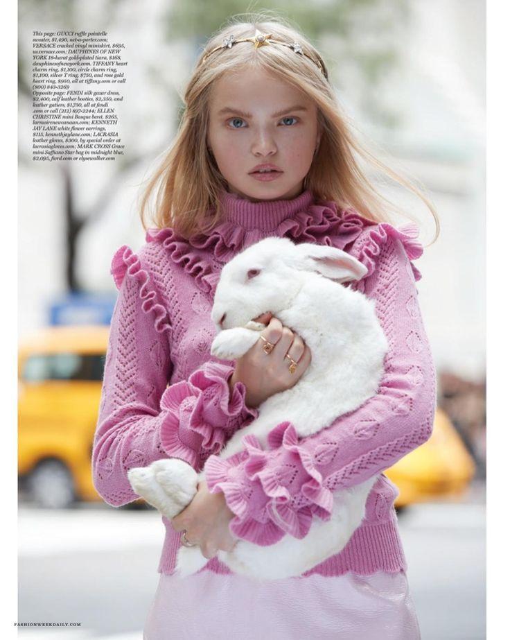 """Alice in Fashionland"" Nastya Siten for The Daily Magazine September 2016"