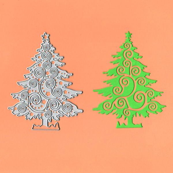 Christmas Tree Metal Cutting Dies Stencil Scrapbooking Album Paper Cards Making