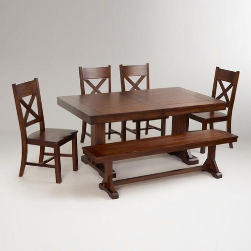 Cost Plus Table: Mahogany Verona Dining Collection