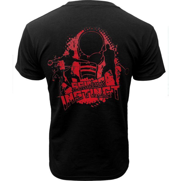 """SPIDER INSTINCT Tee-shirt """"Throwers"""" [Ref.16126] Amis lanceurs, ce tee-shirt est conçu pour vous !  Le tee-shirt """"Throwers"""" Spider Instinct deviendra très vite incontournable pour les spécialistes du Lancer (Poids, Disque, Javelot & Marteau)"""