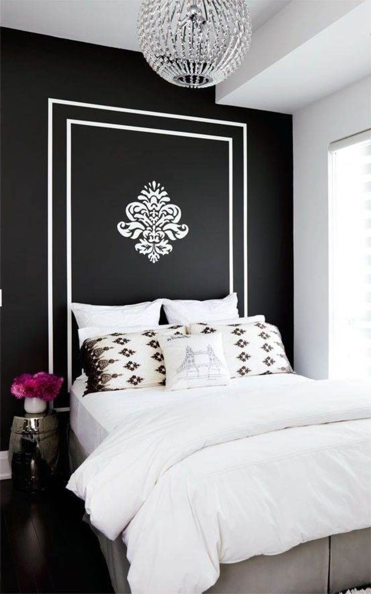 Black wall paint ideas - Solid Black And White Wall Colors For Bedrooms