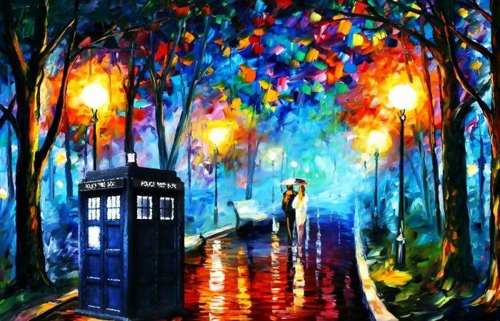 Hd Desktop Wallpaper paintings tardis leonid afremov