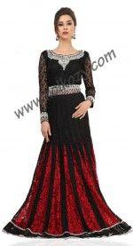 Gleaming #Black & Red #Weeding #Kaftan