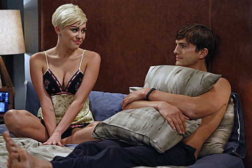 Miley Cyrus On 'Two And A Half Men,' In Bed With Ashton Kutcher