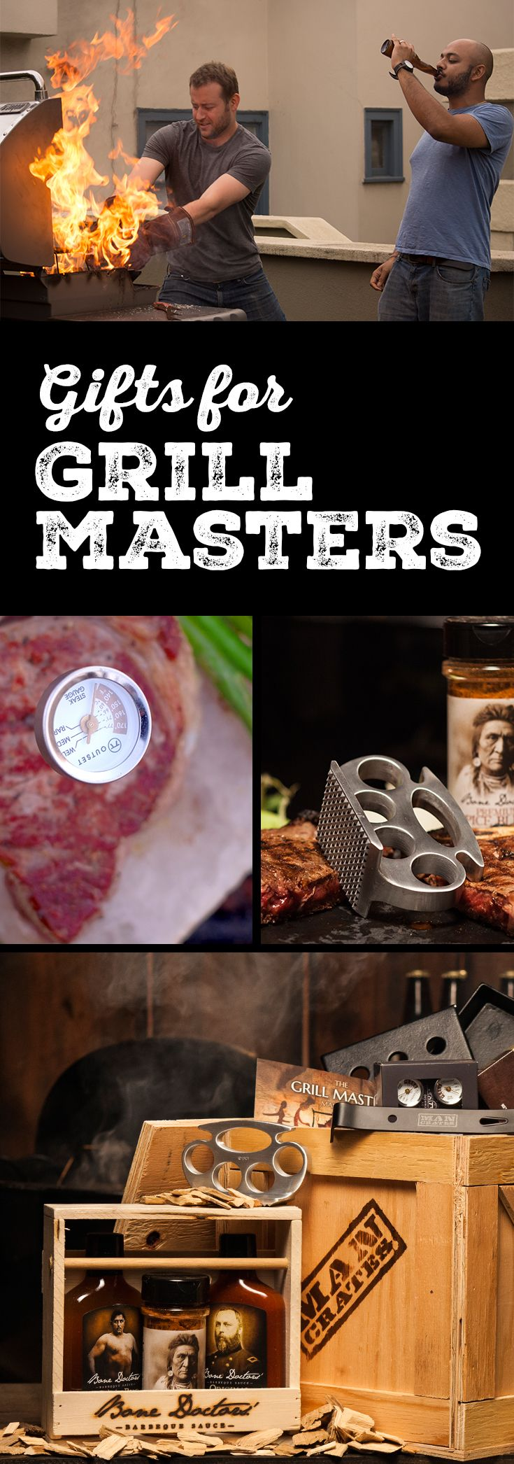 Man Crates has tirelessly studied the grill master in his natural habitat and designed awesome gifts he'll love. Full findings presented within.