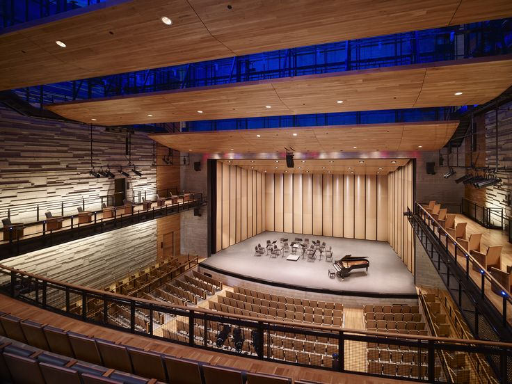 Dallas city performance hall interior acoustic surfaces