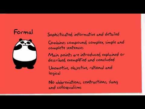(5) Formal and Informal Communication - YouTube - I liked this you tube clip as it clearly explains formal communication
